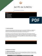 Análisis Del PEI de SUNEDU