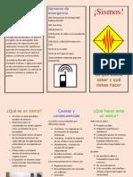folleto sismo