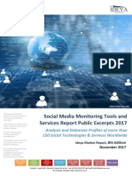 Social Media Monitoring Tools and Services Report Public Excerpts 2017, 8th Edition