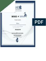 Barebasics Certificate