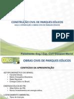Modulo 03 - 01 - Introdução as Obras Civis Parques Eólicos