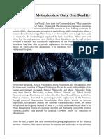 Physics and Metaphysics- University of Sedona
