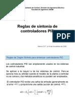 Reglas de sintonia PID - Control de procesos.