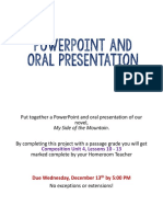 powerpoint and oral presentation project - composition unit 4 lessons 10-13