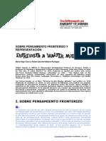 Sobre pensamiento Fronterizo y Representacion (Entrevista a Walter Mignolo)