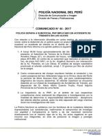 COMUNICADO PNP N° 44 - 2017
