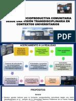Formación Socioproductiva Comunitaria en Contextos Universitarios