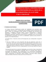 Matriz Prueba Nacional Clasificatoria Ncpm2010
