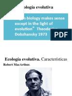 Clase 1. Introduccion. Ecologia Evolutiva.