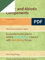 biotic and abiotic components