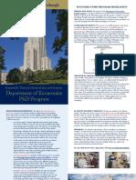 university of pittsburgh economics phd flyer 2017