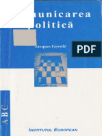 Comunicarea Politică Jacques Gerstle