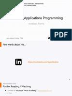 Presentation - WindowsForms
