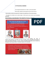 THE BIRTH AND GROWTH OF THE SOCIAL SCIENCES.docx