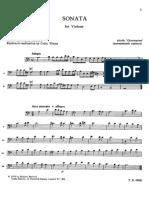 Givannino - Sonata in La Minore Per Violone o Contrabbasso