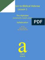 Ot311 Lesson 1