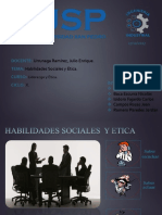 Habilidades Sociales y Etica