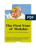 The First Year of Mukdar 2009