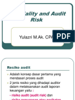 Materiality and Audit Risk 8