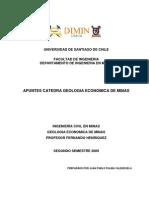 Apuntes Geologia Economica de Minas II 2009