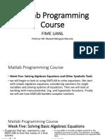 Matlab Programming Course-W5