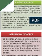 INTERACCIÓN-DIDÁCTICA