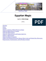 E. a. Wallis Budge - Egyptian Magic