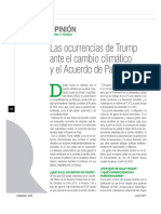 Las ocurrencias de Trump ante el cambio climático y el Acuerdo de París (La Nación 2425)