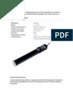 Electrodo Plástico Acrílico y Epoxico.