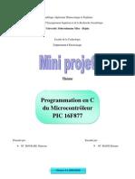 Programmation en C du Microcontrôlleur PIC16F877