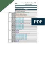 Calendário Acadêmico EAD - 2018.1 EAD