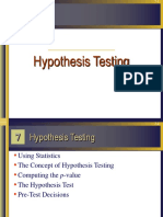 Pertemuan IV SEL Hipothesis Testing
