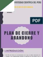 Plan de Cierre y Abandono