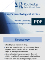 Kant's Deontological Ethics
