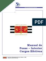 Manual de Posse Em Cargo Efetivo - TJSP