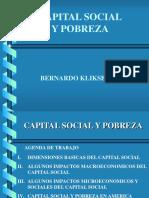Capital Social y Pobreza -  Bernardo Kliksberg.ppt