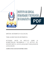 Informática y Educación. Actividad II