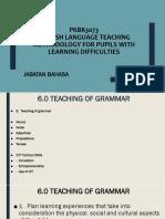 6.0 Teaching of Grammar