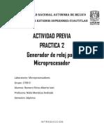 Actividad Previa Practica 2 - Microprocesador