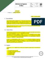 RE-OP-27 Informe Ingreso a Obra