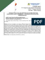 Ct18 - Taxa de Deposição - Saw - IV Colipe