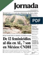 Portada diario la jornada 13 de noviembre 2017