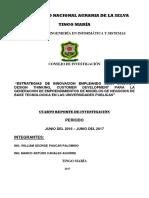 Cuarto Informe Del Proyecto La Generacion de Emprendimientos