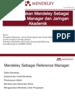 Menggunakan Mendeley Sebagai Reference Manager Dan Jaringan Akademik