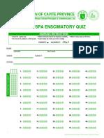 DFOT Answer Sheet 1