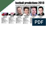 Division Picks