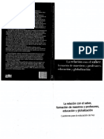 Bernard Charlot- La Relación Con El Saber