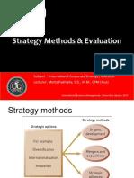 Strategy Methods & Evaluation