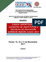 Bases de Juegos Deportivos 2017
