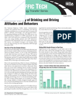 National Survey of Drinking and Driving attitudes and Behaviors